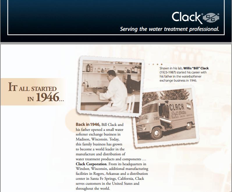关于美国Clack净水设备公司